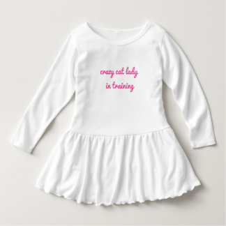 crazy cat lady in training toddler ruffle dress