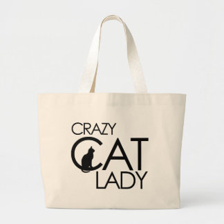 Crazy Cat Lady Large Tote Bag
