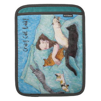 Crazy Cat Lady queen cats iPad Sleeve