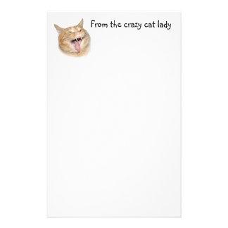 Crazy cat lady customized stationery