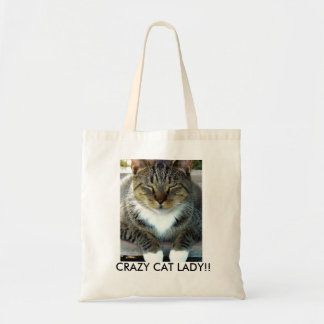 Crazy Cat Lady!! Tote Budget Tote Bag