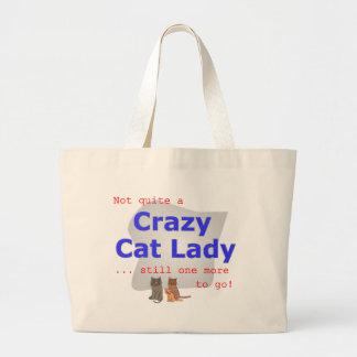 Crazy cat lady tote jumbo tote bag