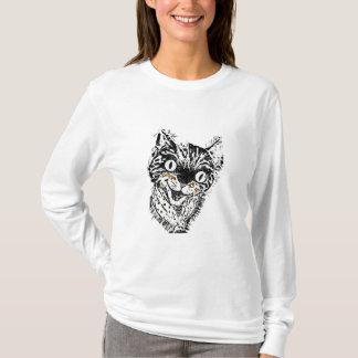 Crazy Cat T-Shirt Long sleeve