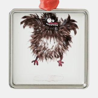 Crazy chicken Silver-Colored square decoration