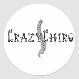 Crazy Chiro - Revolution in Chiropractic Classic Round Sticker