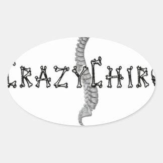 Crazy Chiro - Revolution in Chiropractic Oval Sticker