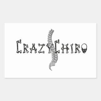 Crazy Chiro - Revolution in Chiropractic Rectangular Sticker