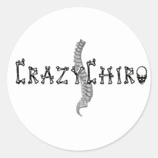 Crazy Chiro - Revolution in Chiropractic Round Sticker