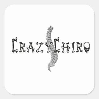Crazy Chiro - Revolution in Chiropractic Square Sticker