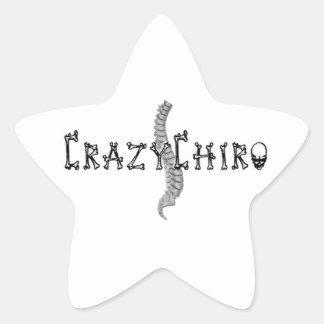 Crazy Chiro - Revolution in Chiropractic Star Sticker