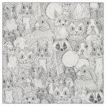 crazy cross stitch critters fabric