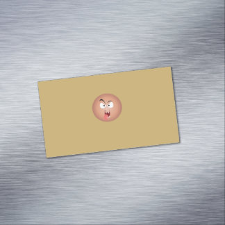Crazy Face Magnetic Business Cards
