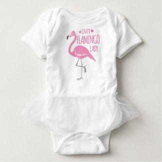 Crazy Flamingo lady Baby Bodysuit