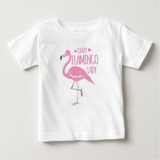 Crazy Flamingo lady Baby T-Shirt