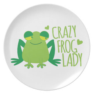 Crazy Frog Lady Plate