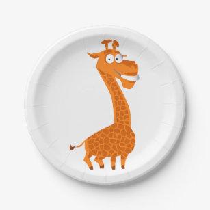 Crazy giraffe paper plate  sc 1 st  Zazzle NZ & Funny Giraffe Plates | Zazzle.co.nz