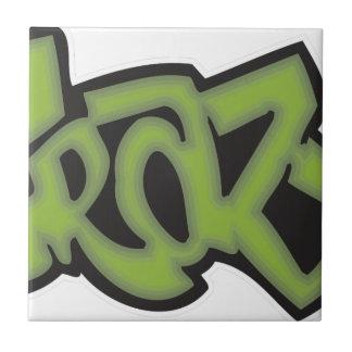 Crazy - Graffiti Small Square Tile
