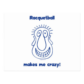 Crazy Head Racquetball Postcard
