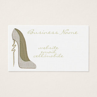 Crazy Heel Lace Stiletto Business Card