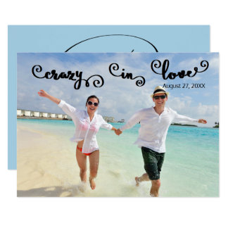 Crazy in Love  - Save the Date Card