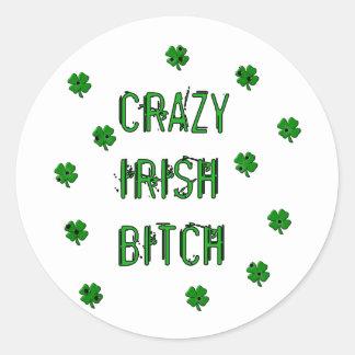 Crazy Irish B***** Stickers