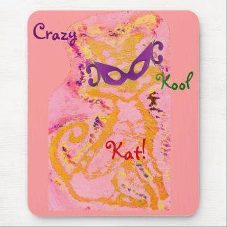 """Crazy, Kool Kat II"" Mousepad - Customizable Mousepads"
