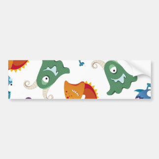 Crazy Monsters Fun Colourful Patterns for Kids Bumper Sticker