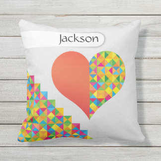 Crazydeal p489 cool crazy creative colorful heart cushion