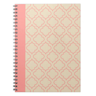 Cream and Coral Notebook