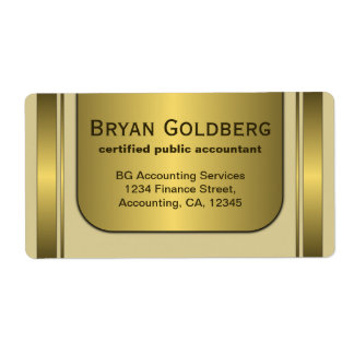 Cream and Gold Plate Elegant Large Labels