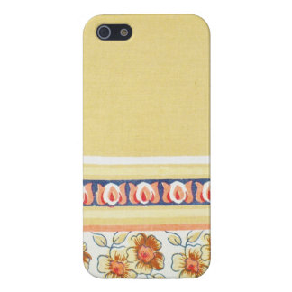CREAM BORDERED FLORAL DESIGN COVER FOR iPhone 5/5S