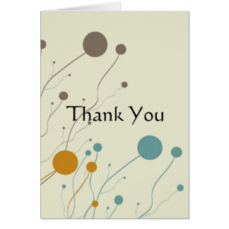Cream, brown, orange and teal wedding intivations note card