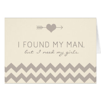 Cream & Champagne Chevron Maid of Honor Card