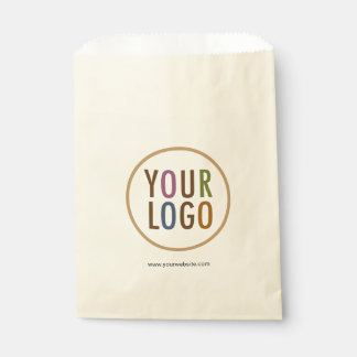 Cream Ivory Ecru Favour Bags Custom Logo Branded