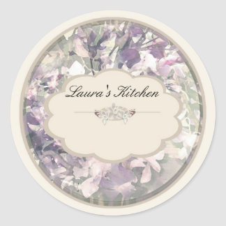 cream orchids labels stickers