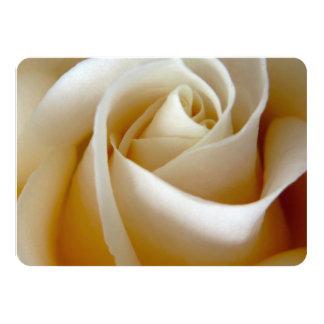 Cream Rose Wedding Photo Card