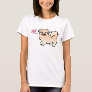 Cream Sable Tibetan Spaniel Cartoon Dog T-Shirt