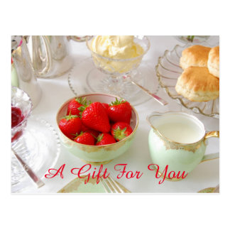 Cream Tea Gift Certificate Postcard