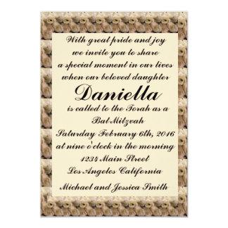 Cream Tulips Bat Mitzvah/Wedding Invitation