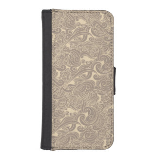 Cream Waves iPhone 5/5s Wallet Case