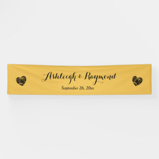 Create A Wedding Banner A7 Gold and Grunge Hearts