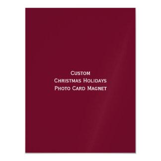 Create Custom Christmas Holidays Photo Card Magnet Magnetic Invitations