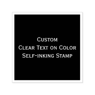 Create Custom Clear Printing Text Photo on Color Self-inking Stamp