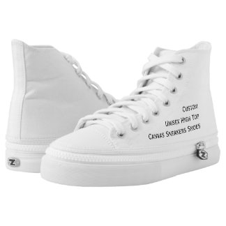 Create Custom Hi Top Lace Up Canvas Sneakers Shoes