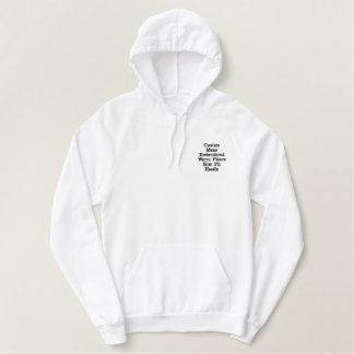 Create Custom Mens Embroidered Warm Fleece Hoodie