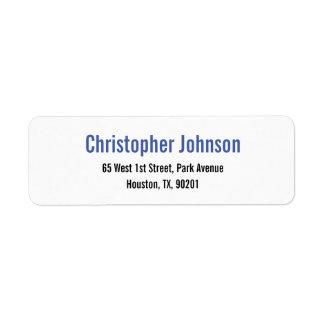 Create Custom Plain Elegant Return Address Label