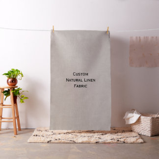 Create Custom Rustic Natural Color Linen Fabric
