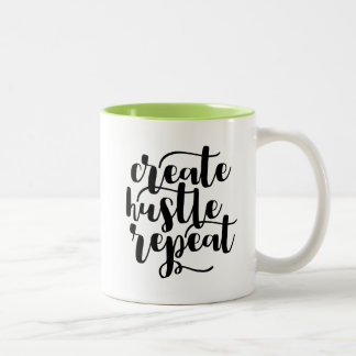 Create Hustle Repeat Mug