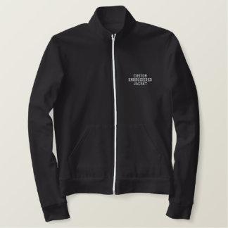 Create Ladies Custom Zip Jogger Embroidered Jacket
