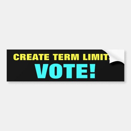 Create Term Limits Bumper Sticker